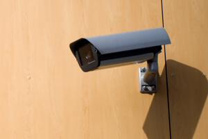 security camera mounted