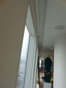 progress on lighting install in high rise