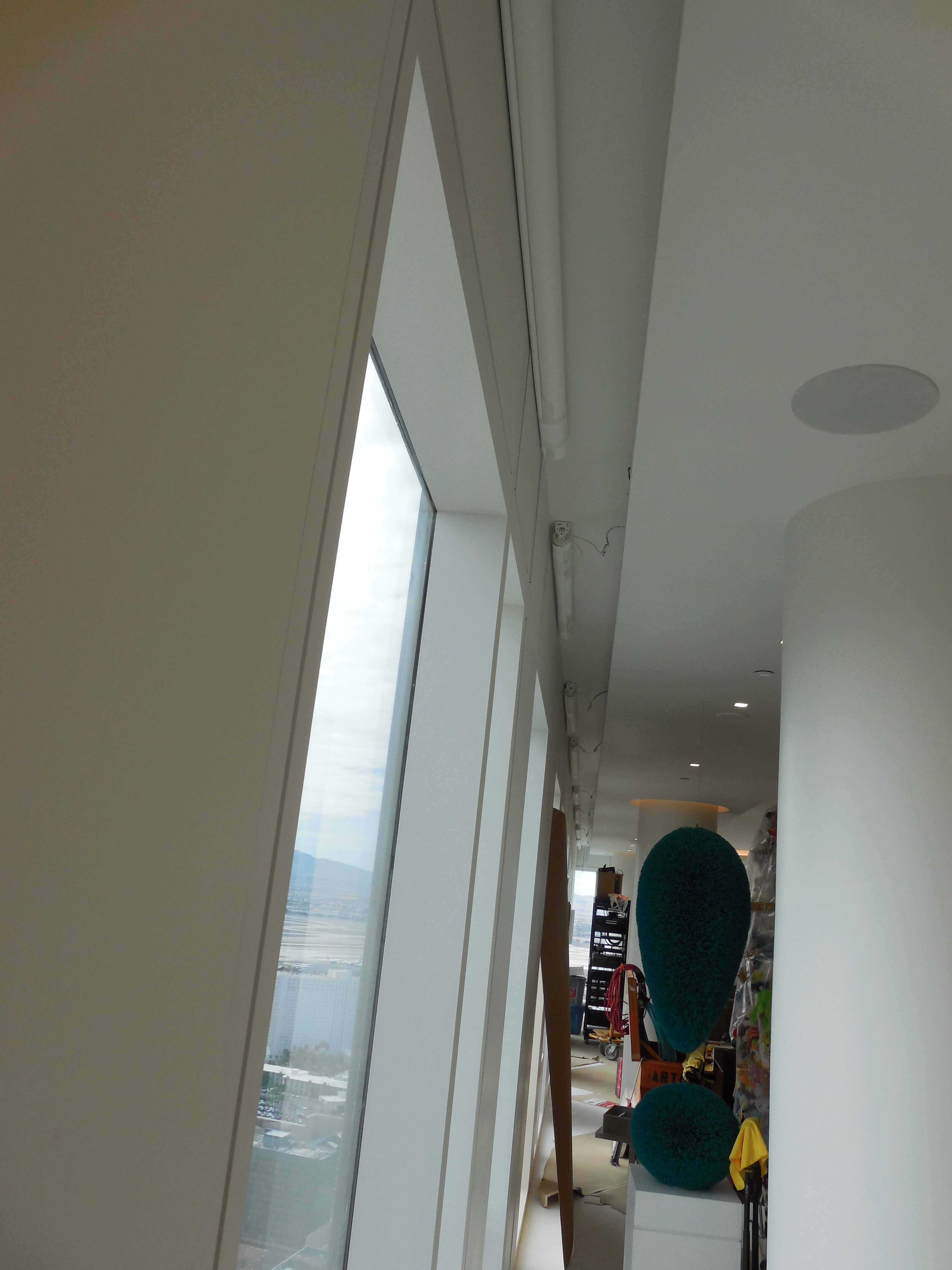 Automated Motorized Shades/ In-Ceiling Speakers
