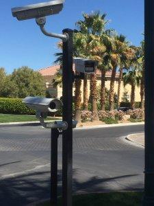 Security Camera Set Up Street Corner