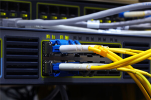 fiber optic cabling network