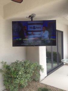 Outdoor Patio Entertainment TV Set Up
