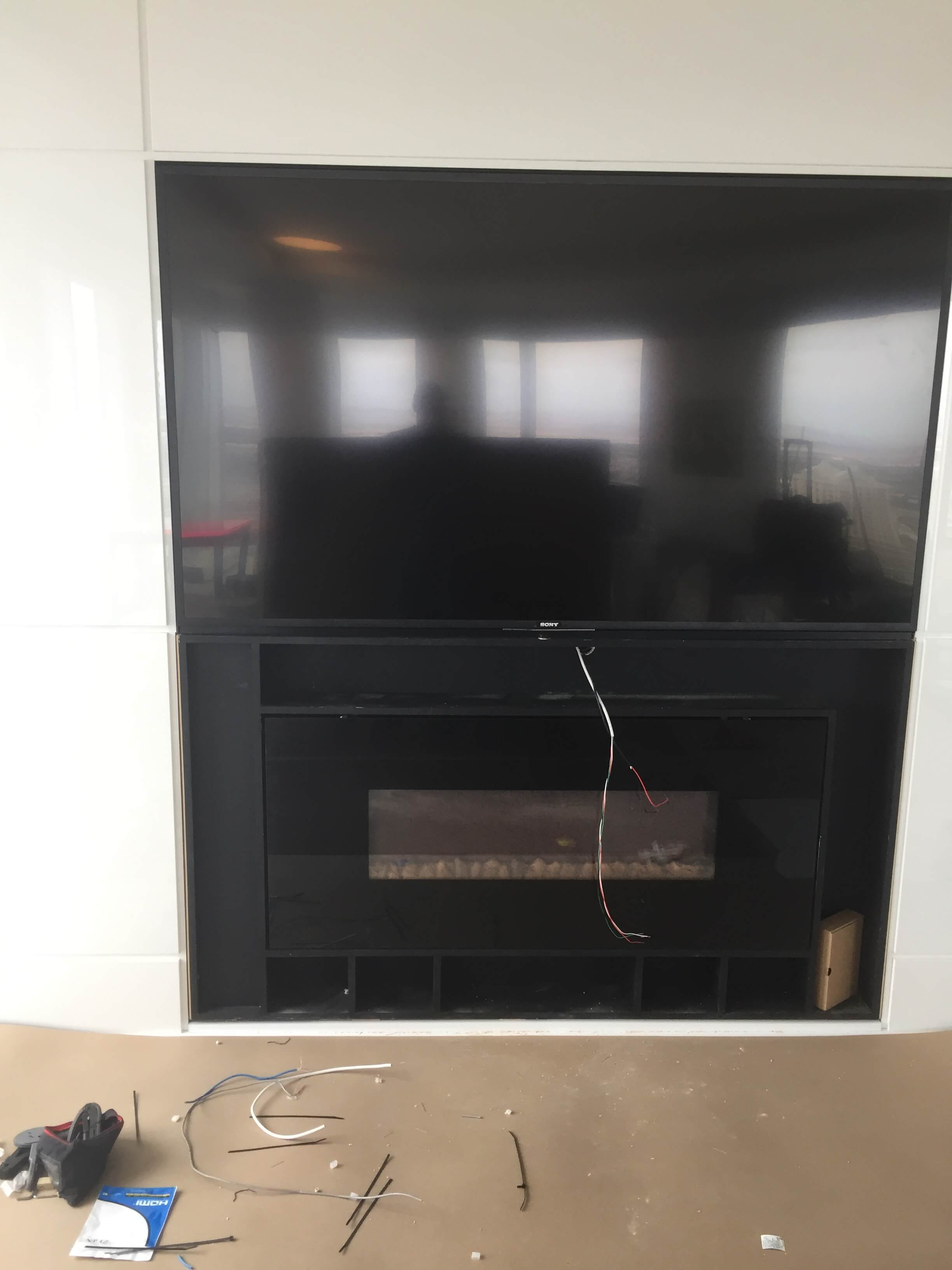 "80"" Family Room TV After"