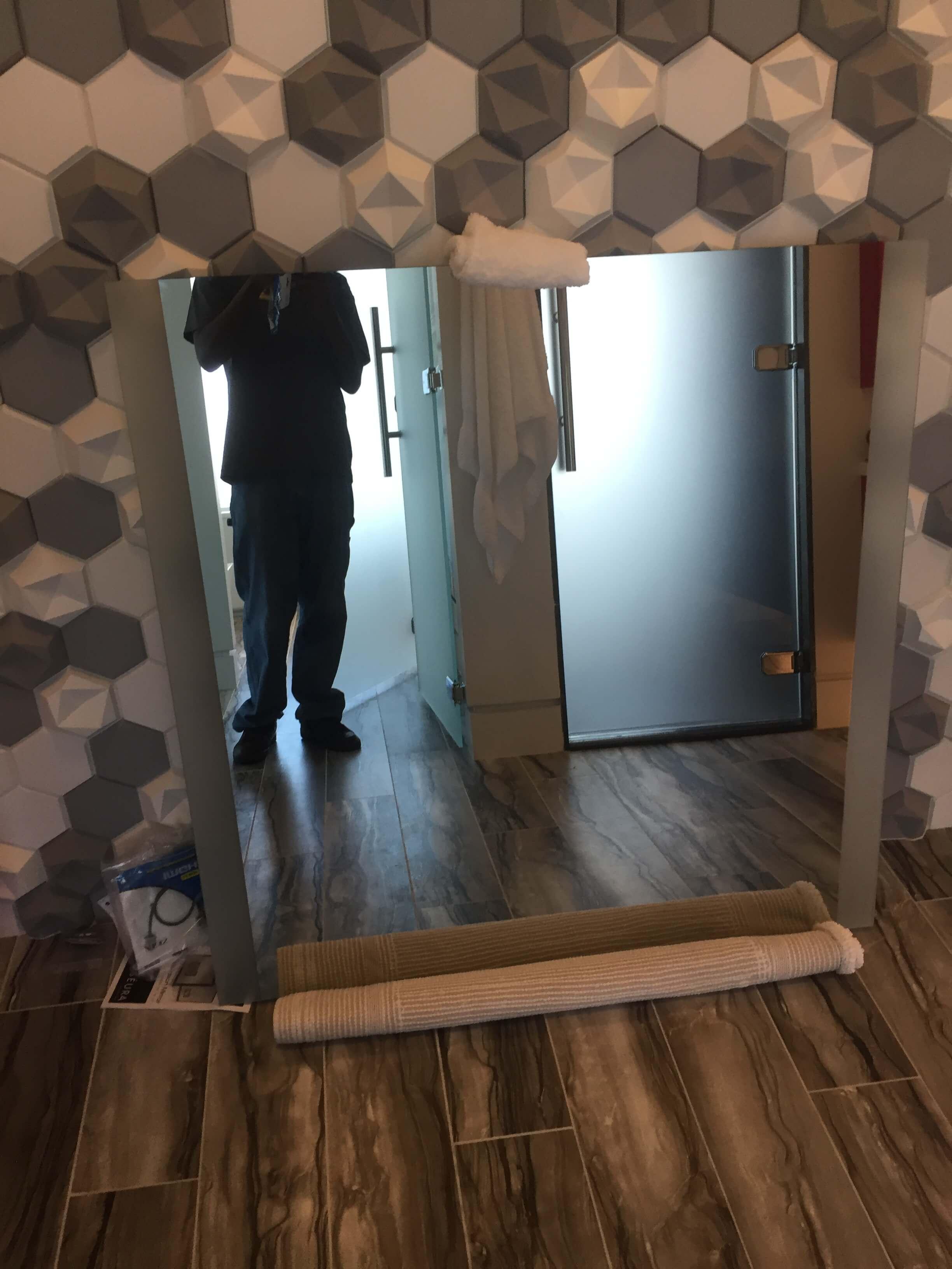 Bathroom Mirror With TV